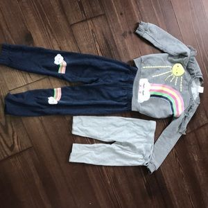 Nannette sweatsuit and leggings girls